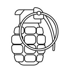 Grenade icon cartoon black and white vector