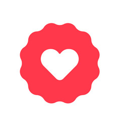 heart icon flat symbol vector image