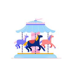 horse carousel icon vector image