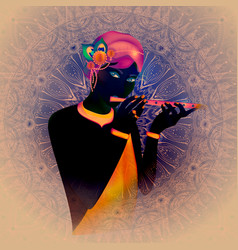 Image avatar of god krishna hinduism is a vector