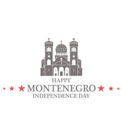 Independence Day Montenegro vector image