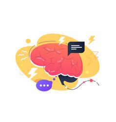 Inside person brain vector