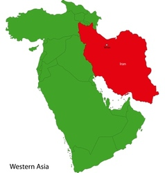 Iran map vector