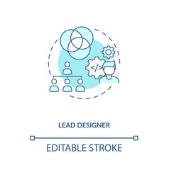 Lead designer concept icon vector