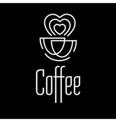 Logo coffee set vector