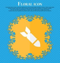 Missilerocket weapon floral flat design on a blue vector