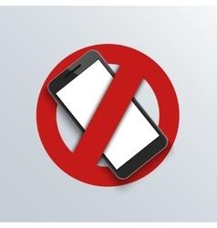modern smartphone logo banner background vector image