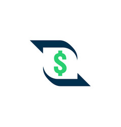 money transfer icon chargeback contour sign quick vector image
