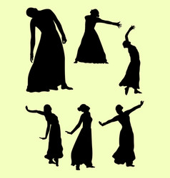 Opera and theater gesture silhouette 01 vector