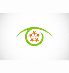 optic star round logo vector image