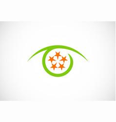 optic star round logo vector image