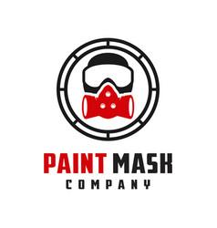 paint mash company logo design vector image