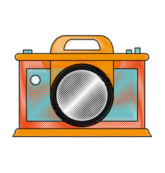 photographic camera icon image vector image