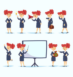 ready-to-use cartoon character set young business vector image