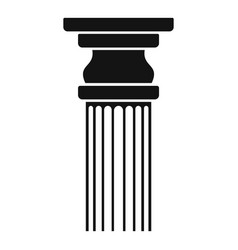 Rectangular column icon simple style vector