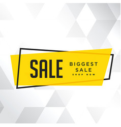 Sale biggest sale shop now white background vector