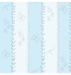 seamless baby pattern for boy vector image