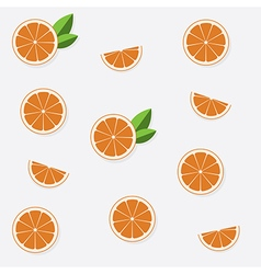 Seamless pattern with flat orange vector