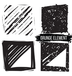 Set grunge backgrounds Abstract elements vector image