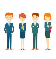 set of businessmen and businesswomen character in vector image