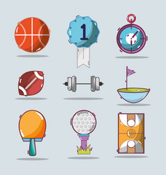Set of different play games tools vector