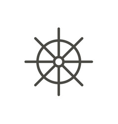 ship wheel icon line symbol isolated tren vector image