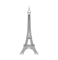 simplified of eiffel tower symbol of vector image