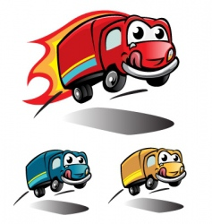 Smile truck vector