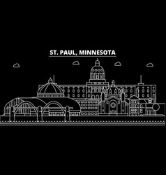 st paul silhouette skyline usa - st paul vector image