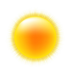 sun with white background vector image