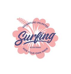 Surfing stylish graphic t-shirt design vector