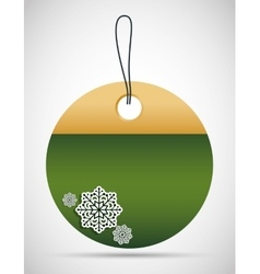 Tag with snowflake icon Merry Christmas design vector