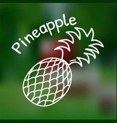 Thin line pineapple icon vector