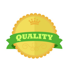 top quality gold vintage custom badge emblem vector image