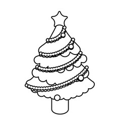 Tree pine christmas vector