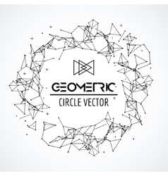 Wireframe mesh circle broken polygonal sphere vector image