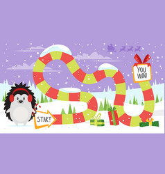 christmas board game vector image vector image
