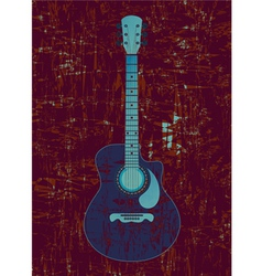 Classical guitar vector image