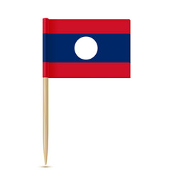 flag of laos flag toothpick on white background vector image vector image
