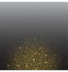 Gold glitter and bright sand transparent vector image vector image