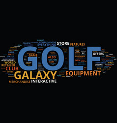 Golf galaxy text background word cloud concept vector