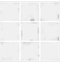 Halftone frame texture set vector image