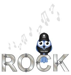 Bird rock vector