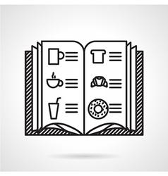 Cafe menu black line icon vector image