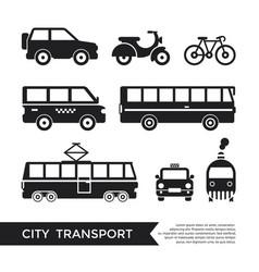 digital black city transport vector image vector image