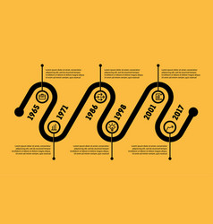 horizontal infographic timeline business concept vector image vector image