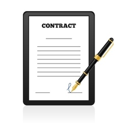 Signing Contract isolated vector image