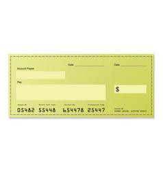 dollar cheque vector image vector image