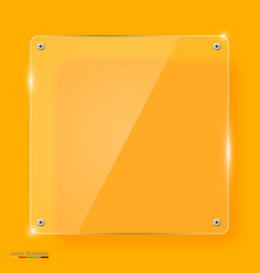 Empty transparent glass framework vector