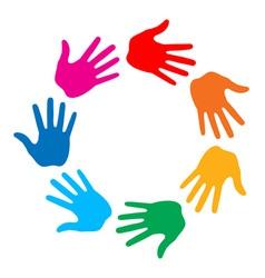 Hand print logo vector